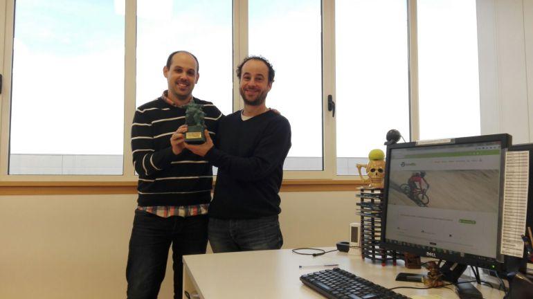 Saúl Cintero y Ángel Ramos creadores de la app MoveOnTracker