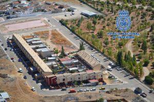 Vista aérea de la barriada del Cerro de Linares donde se ubicaba el punto de venta de droga.