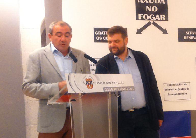 Darío Campos y Álvaro Santos, presidente y vicepresidente de la Diputación de Lugo