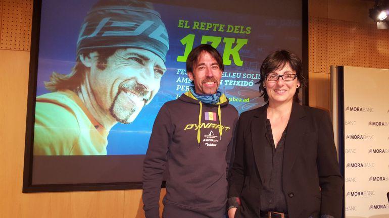 Ferran Teixidó en la presentació del repte 17K.