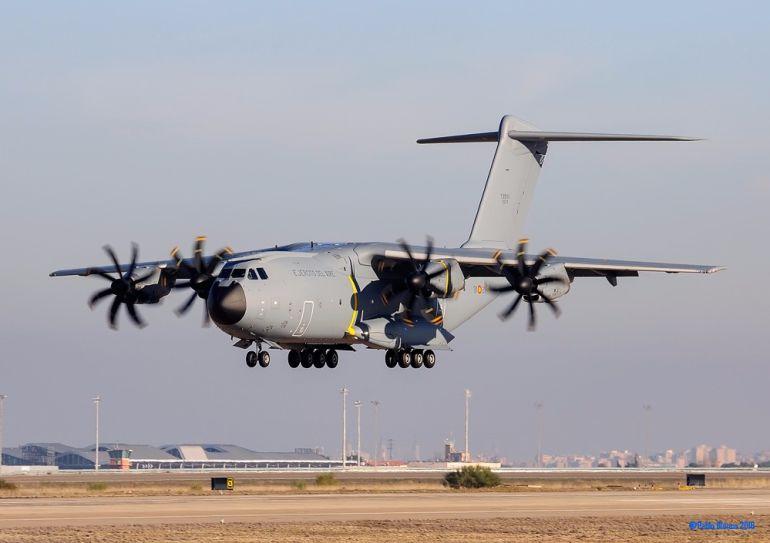 El Airbus a su llegada a Zaragoza