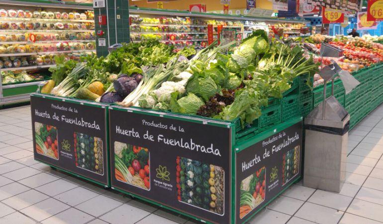 Comercios de Fuenlabrada y grandes superficies empiezan a vender producos de la huerta de la ciudad.