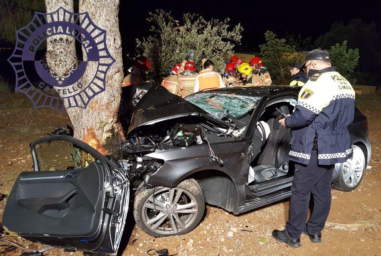 Imagen del vehículo accidentado el pasado domingo en Castellón