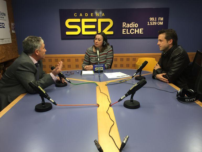 José Antonio Pérez y David Castaño durante la entrevista en Hoy por Hoy Elche
