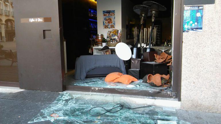 Cafetería robada en la Plaza Mayor