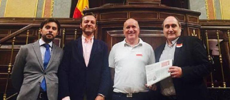 Algunos de los promotores del Ateneo de Palencia