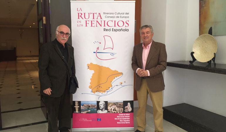 Arturo Ruiz y Francisco Jiménez, alcalde de Santo Tomé