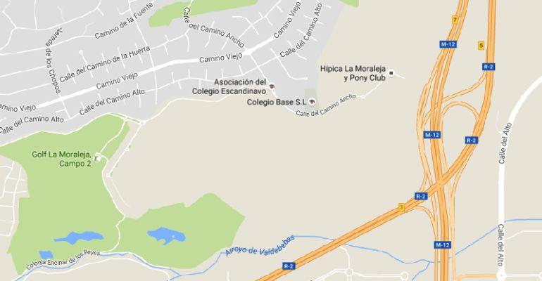 Ubicación de los terrenos de 'La Carrascosa' en Alcobendas