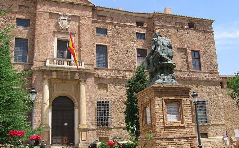 Fachada del Palacio de Viso del Marqués que alberga desde 1948 el Archivo de la Armada Española, en su interior, cerrado desde el pasado 25 de noviembre por falta de personal.
