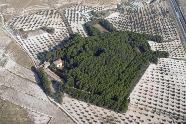 Vista aérea de El Poblet en Petrer