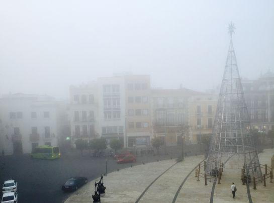 La niebla cubre Badajoz
