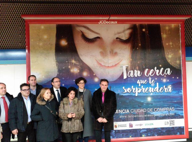 Imagen de la delegación que se ha desplazado hasta Madrid en el marco de la promoción del comecio de Palencia