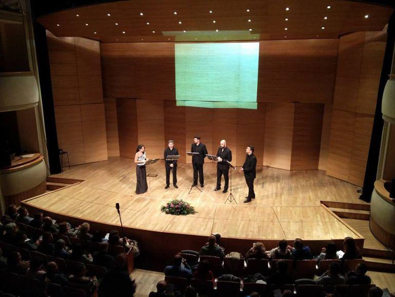 Actuación del cuarteto vocal Vandalia