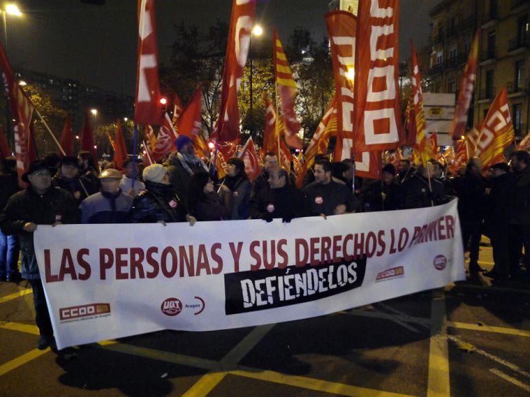 La manifestación ha salido desde la plaza San Miguel