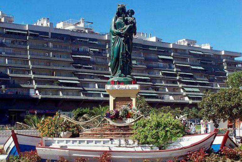 La actual imagen de la patrona de Fuengirola (Málaga), la Virgen del Carmen
