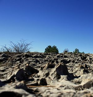 Mar de piedra en Los Callejones.