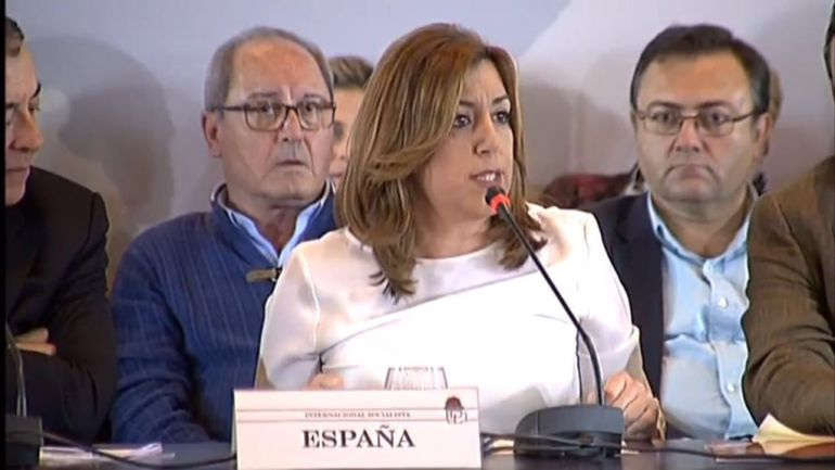 Díaz durante el foro político celebrado este sábado en Málaga