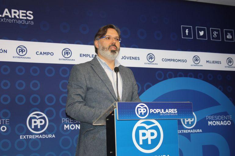 Fernando Pizarro, portavoz regional del PP