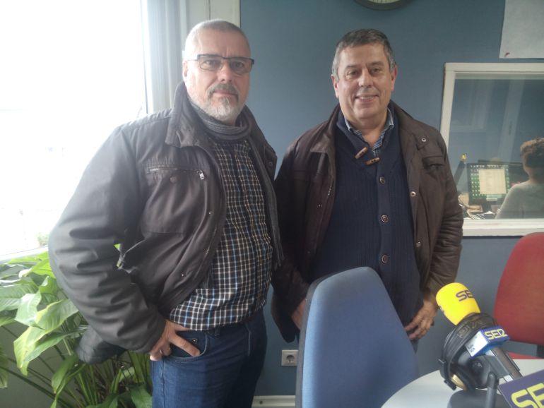 José Barreiro de la Federación de AA.VV Oiasso 2000 y Agustín González, presidente del Foro ciudadno irunés
