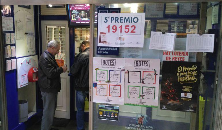 Administración Lor de Lugo, que ha repartido un quinto premio en la Lotería de Navidad