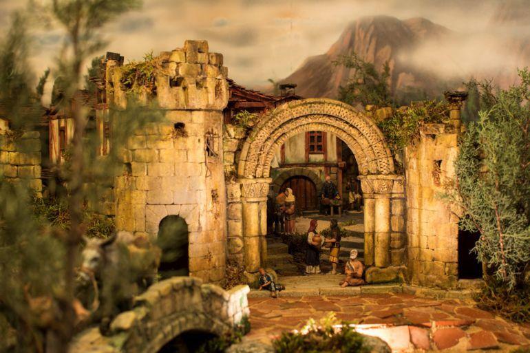 Concurso belenes palencia hermanitas de los ancianos desamparados y alexandra merino ganan el - Portales de belen originales ...