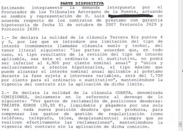 Dictada la primera sentencia retroactiva de cl usula suelo for Juzgados de ponferrada