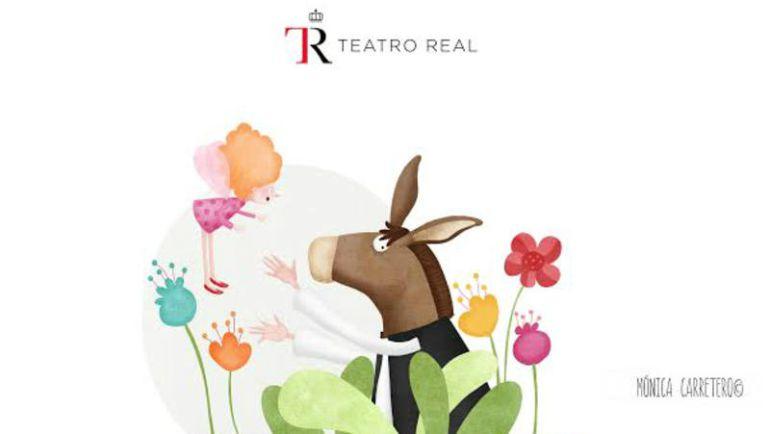 Imagen del cartel de la obra El sueño de una noche de verano , en el teatro Real de Madrid.
