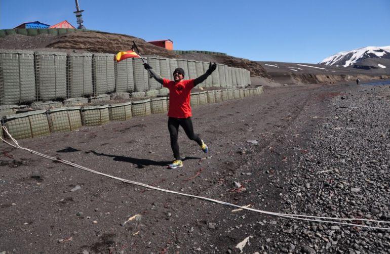 Participante en la San Silvestre antártica