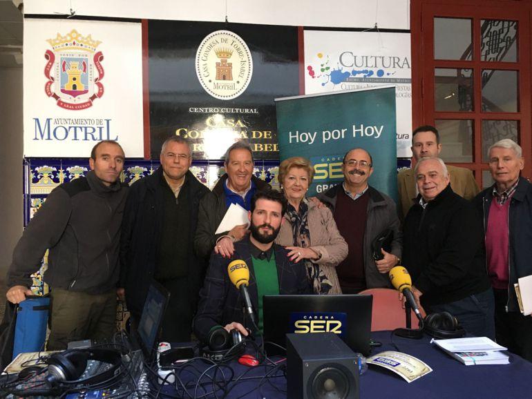 """Algunos de los participantes en el programa especial de """"Hoy por Hoy Granada"""" con motivo del 40 aniversario de Radio Motril-SER"""