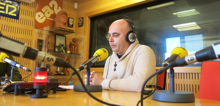 El concejal y consejero delegado de Onda Cádiz, David Navarro, durante una entrevista en la SER