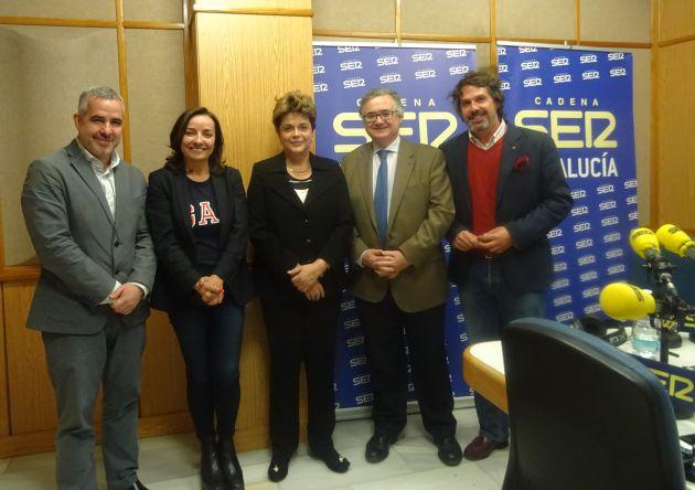 Diego Suárez, Pepa Bueno, Dilma Rousseff y Antonio Yélamo