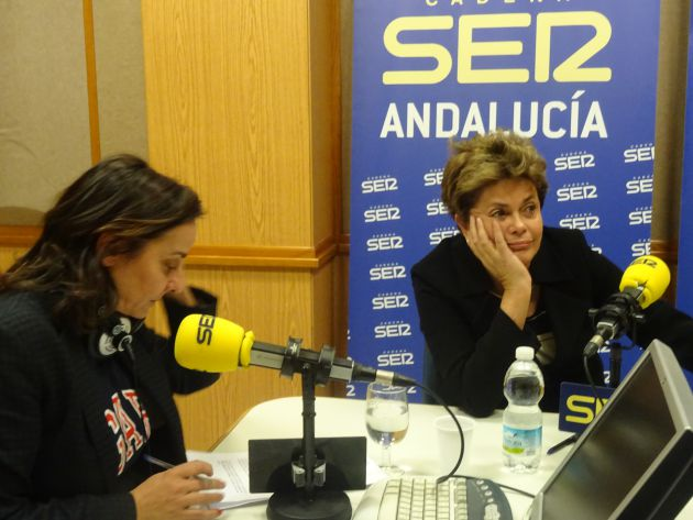 Pepa Bueno y Dilma Rousseff