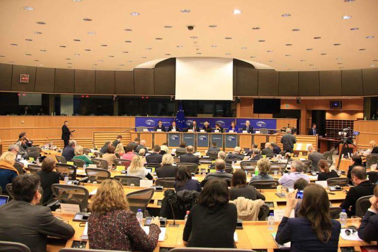 Sesión de la Comisión de Asuntos Constitucionales del Parlamento Europeo