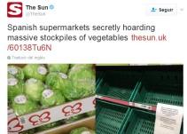'The Sun' acusa a España, y Murcia, del 'pánico' en los supermercados británicos