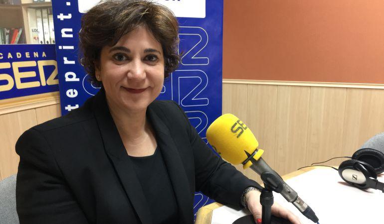 La candidata al rectorado de la URJC, Rosa Berganza