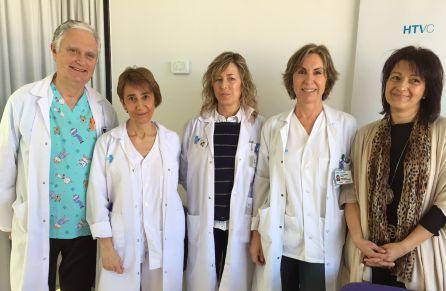 L'equip de professionals del Verge de la Cinta que ha ideat el servei de les visites a maternitat
