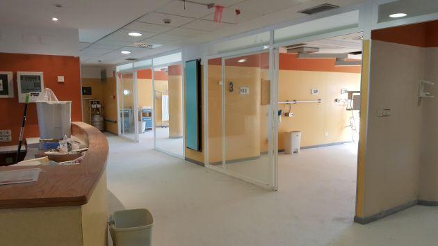 UCI pediátrica en la reforma del antiguo hospital de Traumatología de Granada