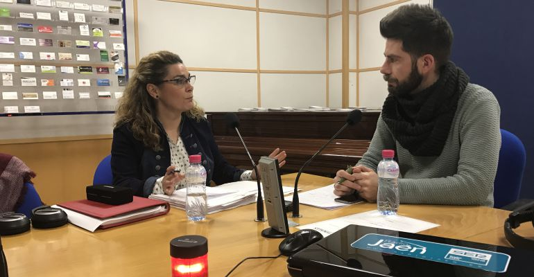 La concejala socialista, Matilde Cruz, durante la entrevista en 'Hoy por Hoy Jaén' con José Gómez.