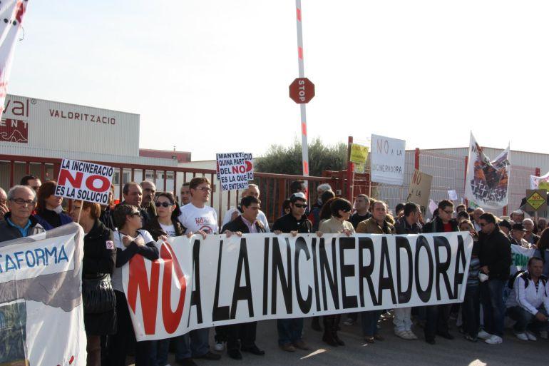 Imagen de archivo de una manifestación contra la incineradora de l'Alcora