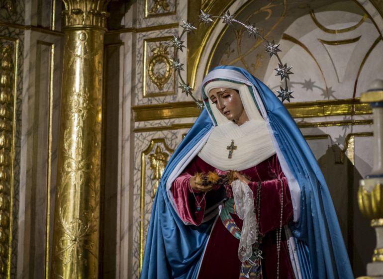 La Virgen de la Esperanza, obra de José Risueño (1718), que será coronada el 13 de octubre de 2018