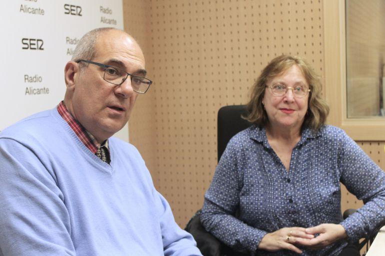 Francisco Manuel Sabuco y Celia Pérez, presidente y vicepresidenta del Teléfono de la Esperanza de Alicante