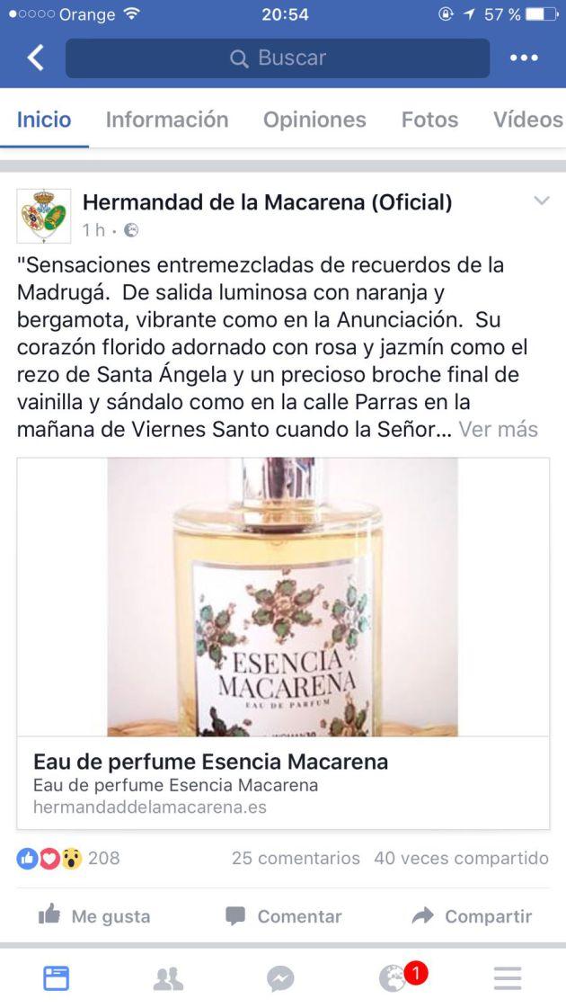 La Macarena, Esperanza de Triana, mercado cofradiero, perfumes: Los perfumes de las Esperanzas