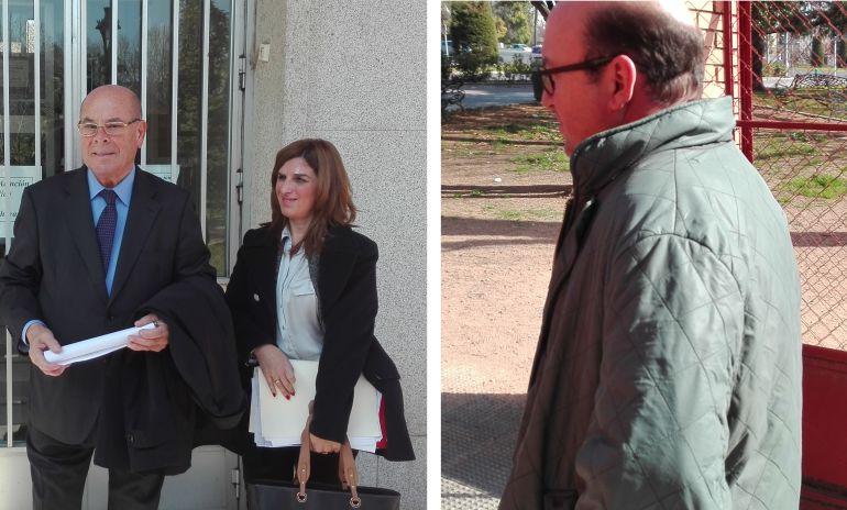 Miguel Reina y Rafael Navas, a la salida de los juzgados.