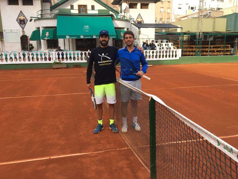 Sergio Gutiérrez y Alex García en la semifinal del torneo