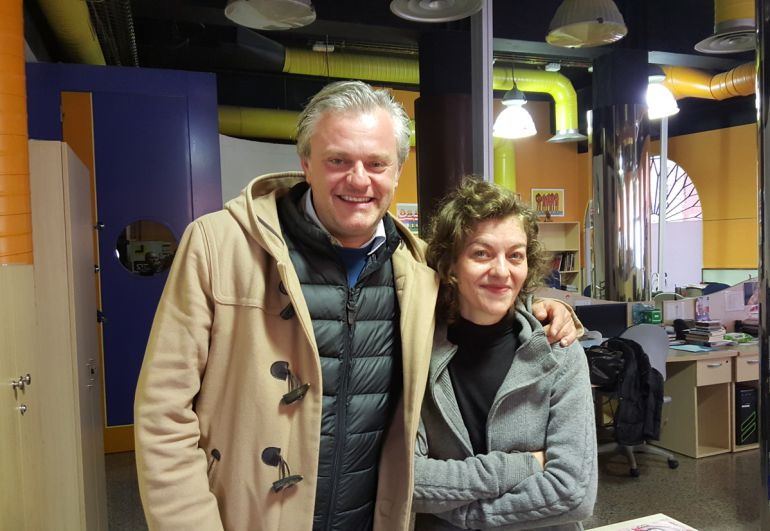 Los actores Juan Antonio Molina y Nuria González en Radio Granada
