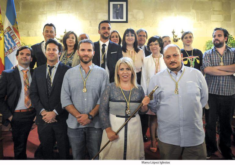 Imagen del pleno de investidura de Mamen Sánchez como alcaldesa de Jerez