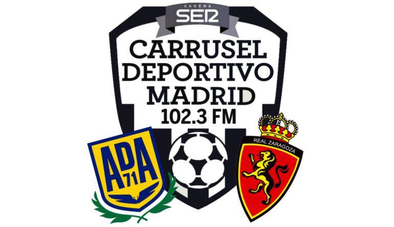 AD Alcorcón - Real Zaragoza en Carrusel deportivo Madrid