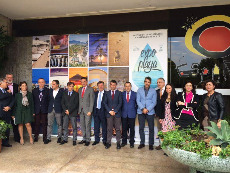 Las autoridades durante la inauguración del evento turístico en Torremolinos
