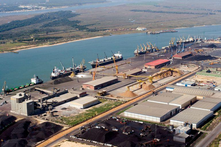Panorámica del Puerto de Huelva