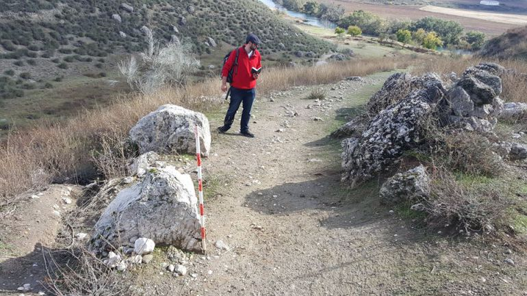 Sillares de acceso a la ciudad romana